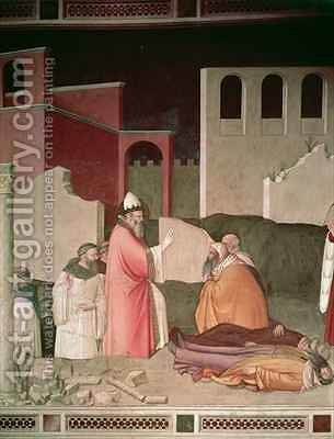 St Sylvester resuscitating two dead Romans by Maso di Banco Giottino - Reproduction Oil Painting