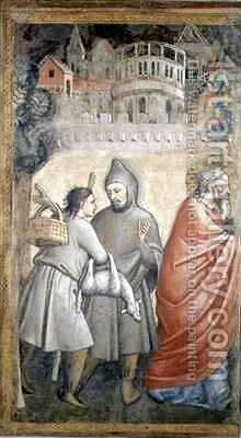 The Meeting at the Golden Gate by Maso di Banco Giottino - Reproduction Oil Painting