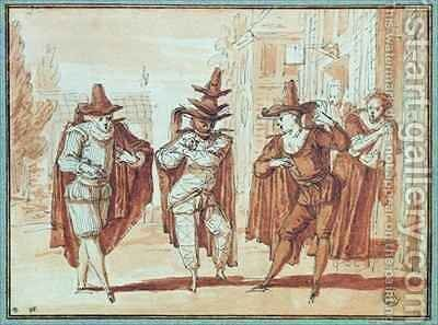 Theatrical Scene 2 by Claude Gillot - Reproduction Oil Painting