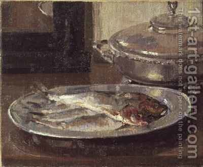 Fish on a Plate by Harold Gilman - Reproduction Oil Painting