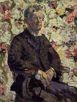 Portrait of a Man by Harold Gilman - Reproduction Oil Painting