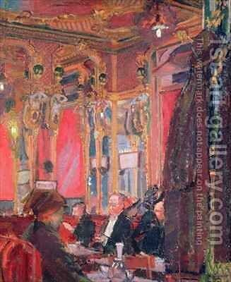 The Cafe Royal by Harold Gilman - Reproduction Oil Painting