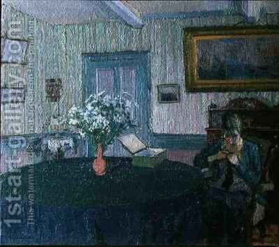 Interior by Harold Gilman - Reproduction Oil Painting