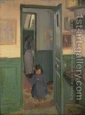 In Sickerts House by Harold Gilman - Reproduction Oil Painting