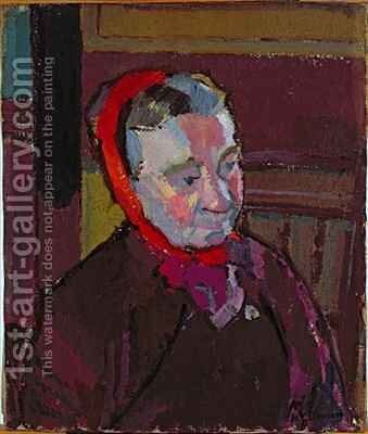 Portrait of Mrs Mounter by Harold Gilman - Reproduction Oil Painting
