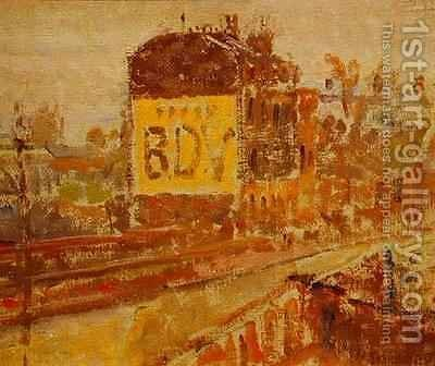 Hampstead Road by Harold Gilman - Reproduction Oil Painting