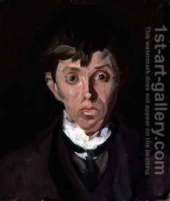 Portrait of Spencer Frederick Gore 1878-1914 by Harold Gilman - Reproduction Oil Painting