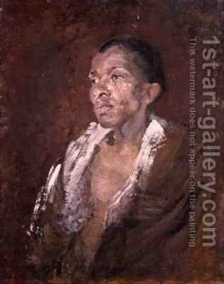 Study of a Negro by Harold Gilman - Reproduction Oil Painting