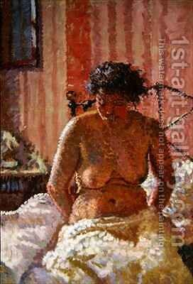 Nude in an Interior by Harold Gilman - Reproduction Oil Painting