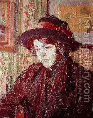 The Tea Cup by Harold Gilman - Reproduction Oil Painting