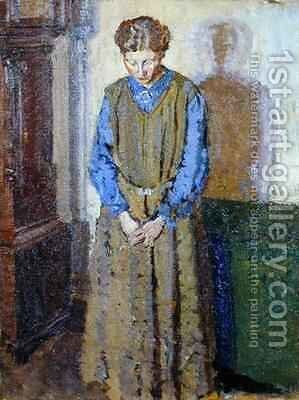 Meditation by Harold Gilman - Reproduction Oil Painting