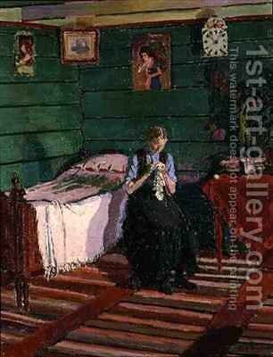 Norwegian Interior by Harold Gilman - Reproduction Oil Painting