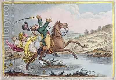 The Sound of the Horn or The Danger of Riding an Old Hunter by James Gillray - Reproduction Oil Painting