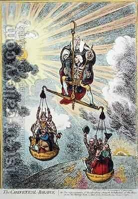 The Cabinetical Balance by James Gillray - Reproduction Oil Painting
