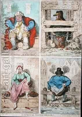National Conveniences by James Gillray - Reproduction Oil Painting