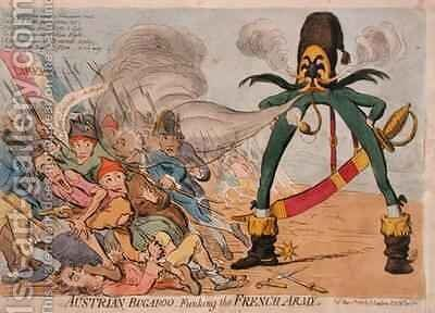 Austrian Bugaboo Funking the French Army by James Gillray - Reproduction Oil Painting
