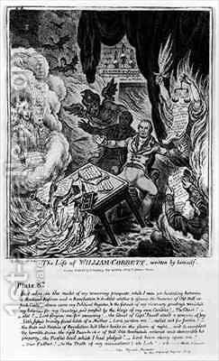 Plate 8 from The Life of William Cobbett by James Gillray - Reproduction Oil Painting