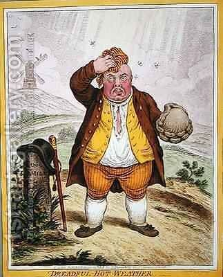 Dreadful Hot Weather by James Gillray - Reproduction Oil Painting