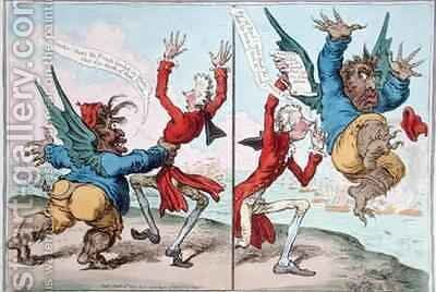 The Tables Turnd by James Gillray - Reproduction Oil Painting