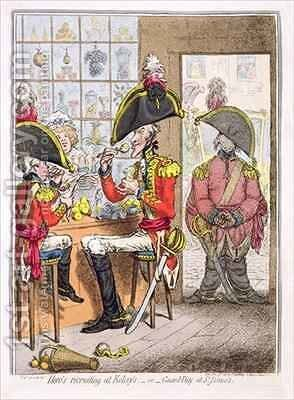 Heros Recruiting at Kelseys or Guard Day at St Jamess by James Gillray - Reproduction Oil Painting