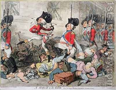 A Right Honourable alias a Sans Culotte by James Gillray - Reproduction Oil Painting