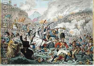Spanish Patriots Attacking the French Banditti by James Gillray - Reproduction Oil Painting
