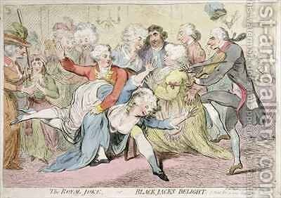 The Royal Joke or Black Jacks Delight by James Gillray - Reproduction Oil Painting