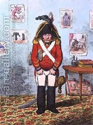 The Military Caricaturist by James Gillray - Reproduction Oil Painting