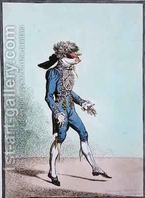 So Skiffy Skipt on with his wonted grace by James Gillray - Reproduction Oil Painting