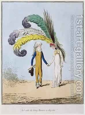 And catch the living Manners as they rise by James Gillray - Reproduction Oil Painting