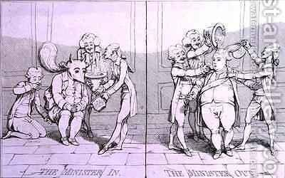 The Minister In  The Minister Out by James Gillray - Reproduction Oil Painting