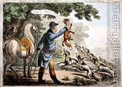 The Death of the Corsican Fox by James Gillray - Reproduction Oil Painting