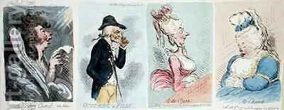 Four Vignettes by James Gillray - Reproduction Oil Painting