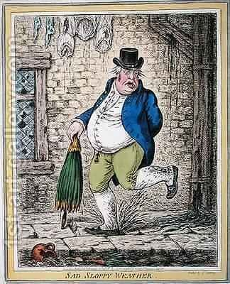 Sad Sloppy Weather by James Gillray - Reproduction Oil Painting