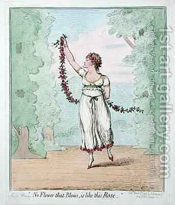 No Flower that Blows is like this Rose by James Gillray - Reproduction Oil Painting