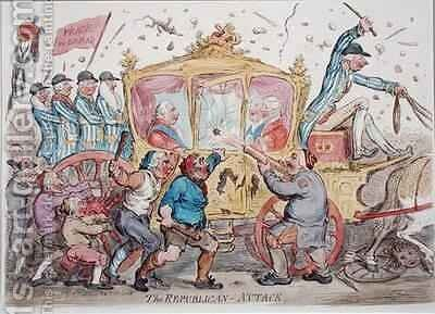 The Republican Attack by James Gillray - Reproduction Oil Painting