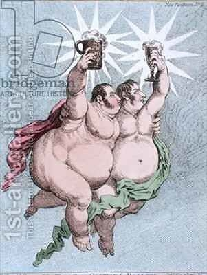 The Twin Stars Castor and Pollux by James Gillray - Reproduction Oil Painting