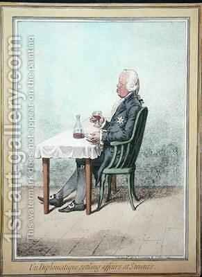 Un Diplomatique Settling Affairs at Stevens by James Gillray - Reproduction Oil Painting