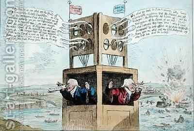Opposition Telegraphs or The little second sighted Lawyer giving a true specimen of Patriotic Information by James Gillray - Reproduction Oil Painting