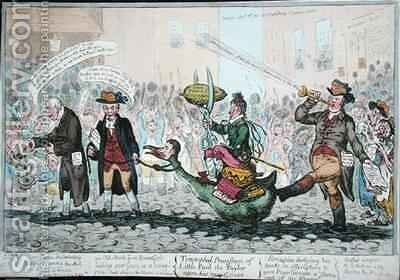 The Triumphal Procession of Little Paul the Taylor upon his new Goose by James Gillray - Reproduction Oil Painting