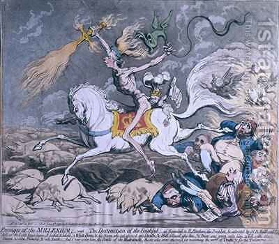 The Death of Admiral Lord Nelson at the Moment of Victory 2 by James Gillray - Reproduction Oil Painting
