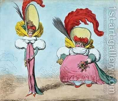 Following the Fashion St Jamess giving the Ton a Soul without a Body Cheapside aping the Mode a Body without a Soul by James Gillray - Reproduction Oil Painting