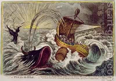 A Tub for the Whale published by Hannah Humphrey in 1806 by James Gillray - Reproduction Oil Painting