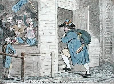 Mason the Dukes Confectioner disposing of the Trinkets by James Gillray - Reproduction Oil Painting