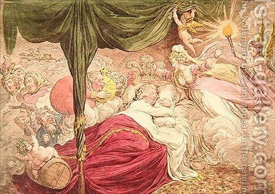 The Lovers Dream by James Gillray - Reproduction Oil Painting