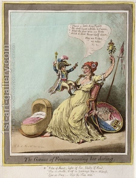 The Genius of France Nursing her Darling by James Gillray - Reproduction Oil Painting