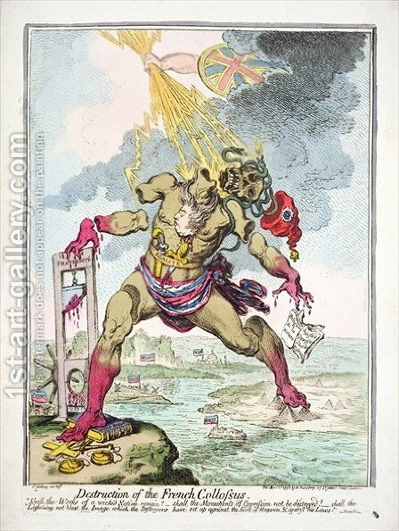 Destruction of the French Colossus by James Gillray - Reproduction Oil Painting