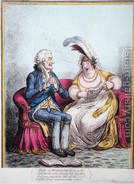 The Bulstrode Siren by James Gillray - Reproduction Oil Painting