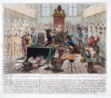 Consequences of a Successful French Invasion or We come to recover your long lost Liberties by James Gillray - Reproduction Oil Painting