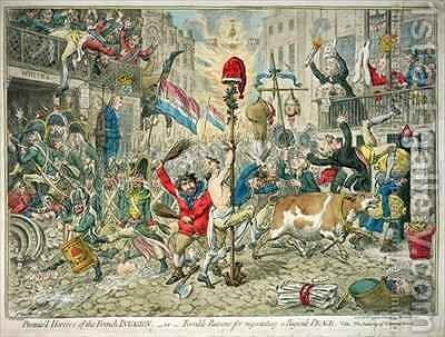 Promisd Horrors of the French Invasion by James Gillray - Reproduction Oil Painting